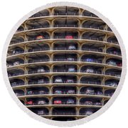 Marina City Chicago Round Beach Towel