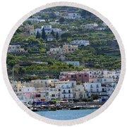 Marina Grande, Isle Of Capri Round Beach Towel