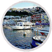 Marina Grande - Isle Of Capri Round Beach Towel