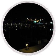Marina Nights Round Beach Towel