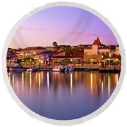 Marina Sunset, Mindarie Round Beach Towel