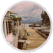 Marina View Round Beach Towel