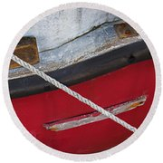 Round Beach Towel featuring the photograph Marine Abstract by Charles Harden