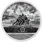 Marine Corps War Memorial Round Beach Towel