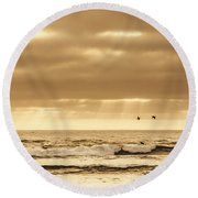 Marine Dream Round Beach Towel