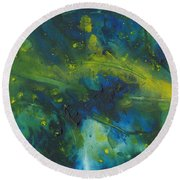 Marine Forest Round Beach Towel