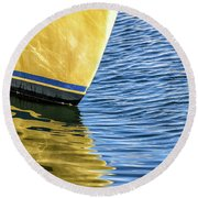 Maritime Reflections Round Beach Towel