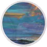 Mariners Beacon Round Beach Towel