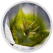 Mariposa Lily Round Beach Towel