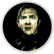 Mark Of The Vampire Round Beach Towel
