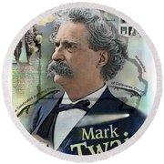 Mark Twain Round Beach Towel