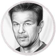 Mark Wahlberg Round Beach Towel