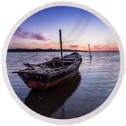 Round Beach Towel featuring the photograph Marked By Time by Edgar Laureano
