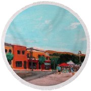 Market Day Round Beach Towel