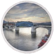 Market Street Bridge Round Beach Towel