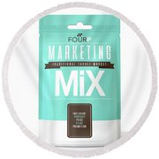 Marketing Mix 4 P's Round Beach Towel