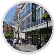 Round Beach Towel featuring the photograph Marks And Spencer - Gibraltar by Phil Banks