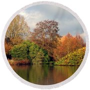 Marks Hall Gardens Round Beach Towel