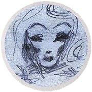Marlene  Round Beach Towel