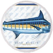 Marlin Id Round Beach Towel