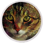 Marmalade In The Morning Round Beach Towel