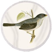 Marmora's Warbler Round Beach Towel by English School