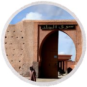 Round Beach Towel featuring the photograph Marrakech 1 by Andrew Fare