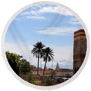Round Beach Towel featuring the photograph Marrakech 2 by Andrew Fare