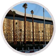 Round Beach Towel featuring the photograph Marrakech Airport 1 by Andrew Fare