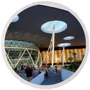 Round Beach Towel featuring the photograph Marrakech Airport 2 by Andrew Fare