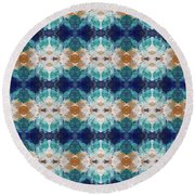 Marrakesh Blues- Art By Linda Woods Round Beach Towel