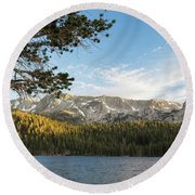 Marry Lake  Round Beach Towel