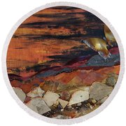 Mars Butterfly Effect Round Beach Towel