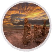 Mars Round Beach Towel by Peter Tellone