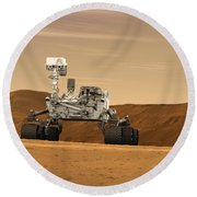 Mars Rover Curiosity, Artists Rendering Round Beach Towel