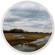 Marsh Day Round Beach Towel