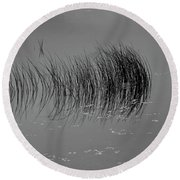 Round Beach Towel featuring the photograph Marsh Reflection by Albert Seger