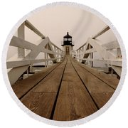 Marshall Point Fog Round Beach Towel