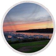 Round Beach Towel featuring the photograph Marshall Point Lighthouse, Port Clyde, Maine -87444 by John Bald
