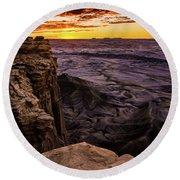 Martian Landscape On Earth - Utah Round Beach Towel by Gary Whitton
