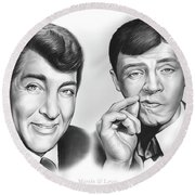 Martin And Lewis Round Beach Towel