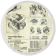 Martin Guitar Patent Art Round Beach Towel