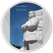 Martin Luther King Jr. Monument Round Beach Towel