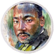 Martin Luther King Jr. Painting Round Beach Towel