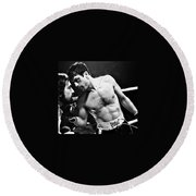 Martin Scorsese And Robert Deniro Publicity Photo Raging Bull 1 1980 Round Beach Towel