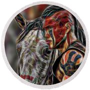 Martin Sensmeier - Digital Art Round Beach Towel