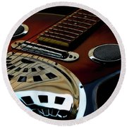 Martinez Guitar 002 Round Beach Towel by Kevin Chippindall