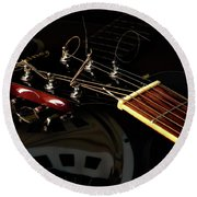 Martinez Guitar 003 Round Beach Towel by Kevin Chippindall