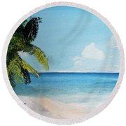Martinique Round Beach Towel