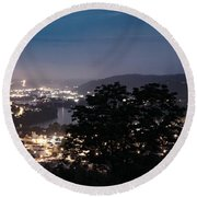Martins Ferry Night Round Beach Towel